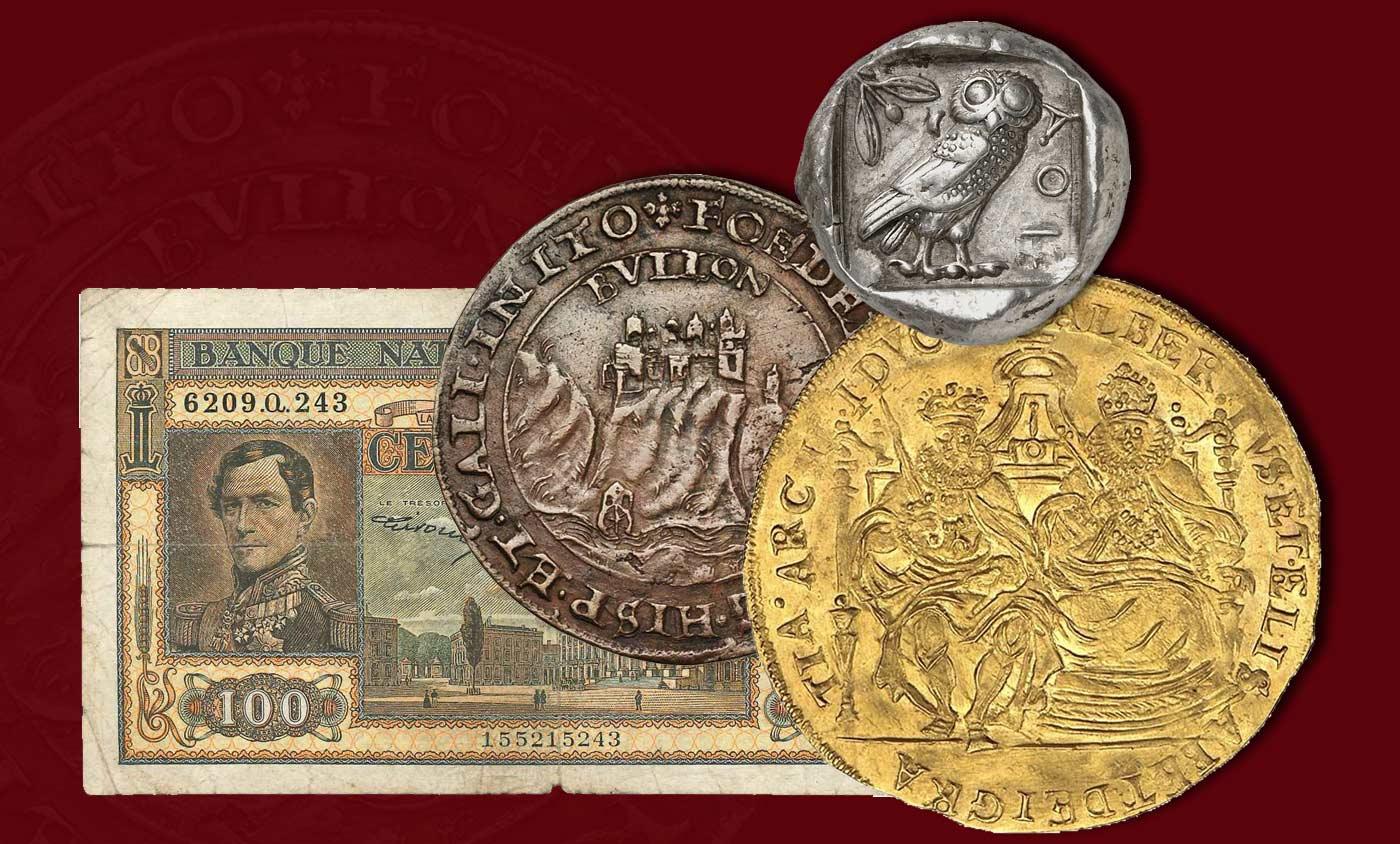 Munten, Medailles, Penningen, Eretekens, Orden, Papiergeld Aankoop, Verkoop, Expertise